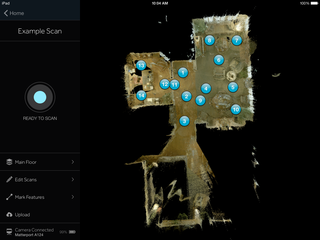 Matterport Capture App for iPad Minimap