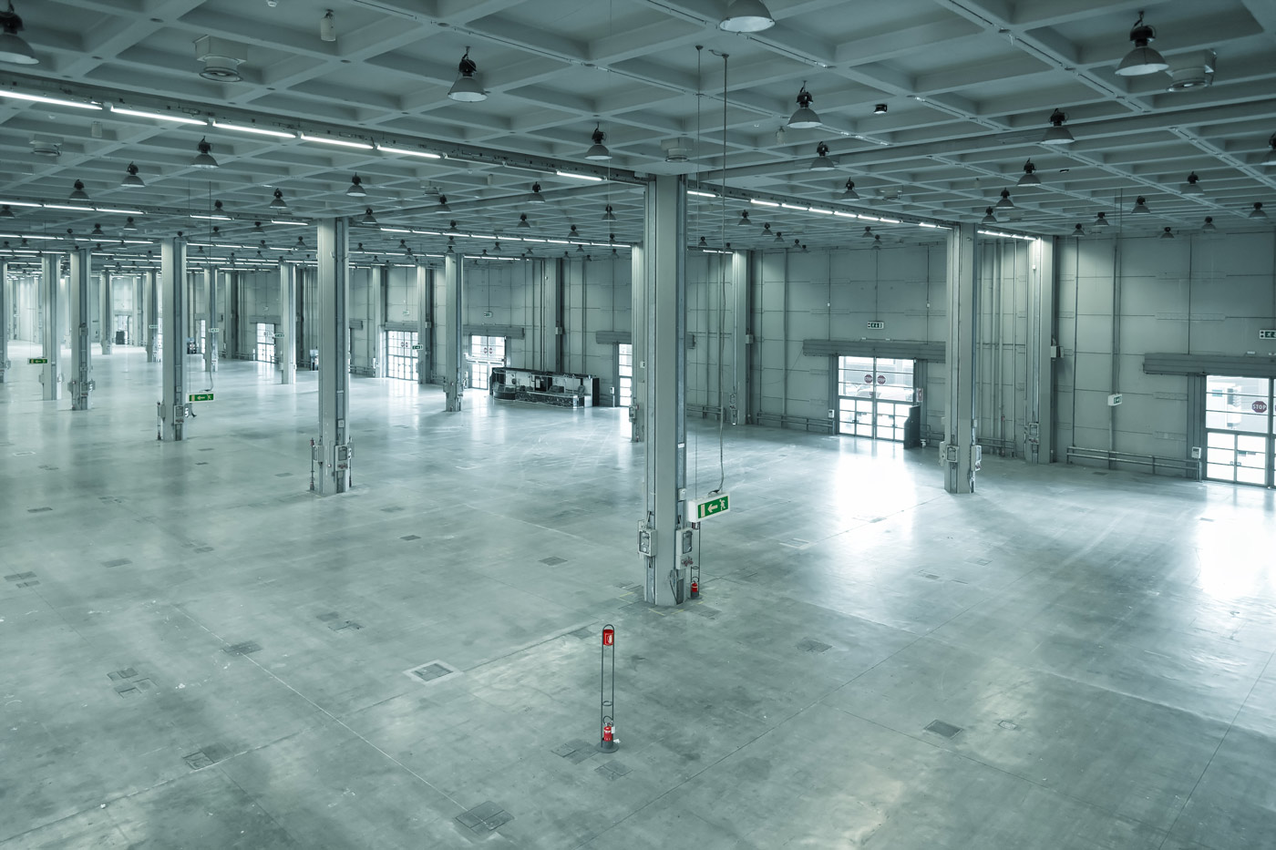 3D Scan as built designs in an empty factory warehouse