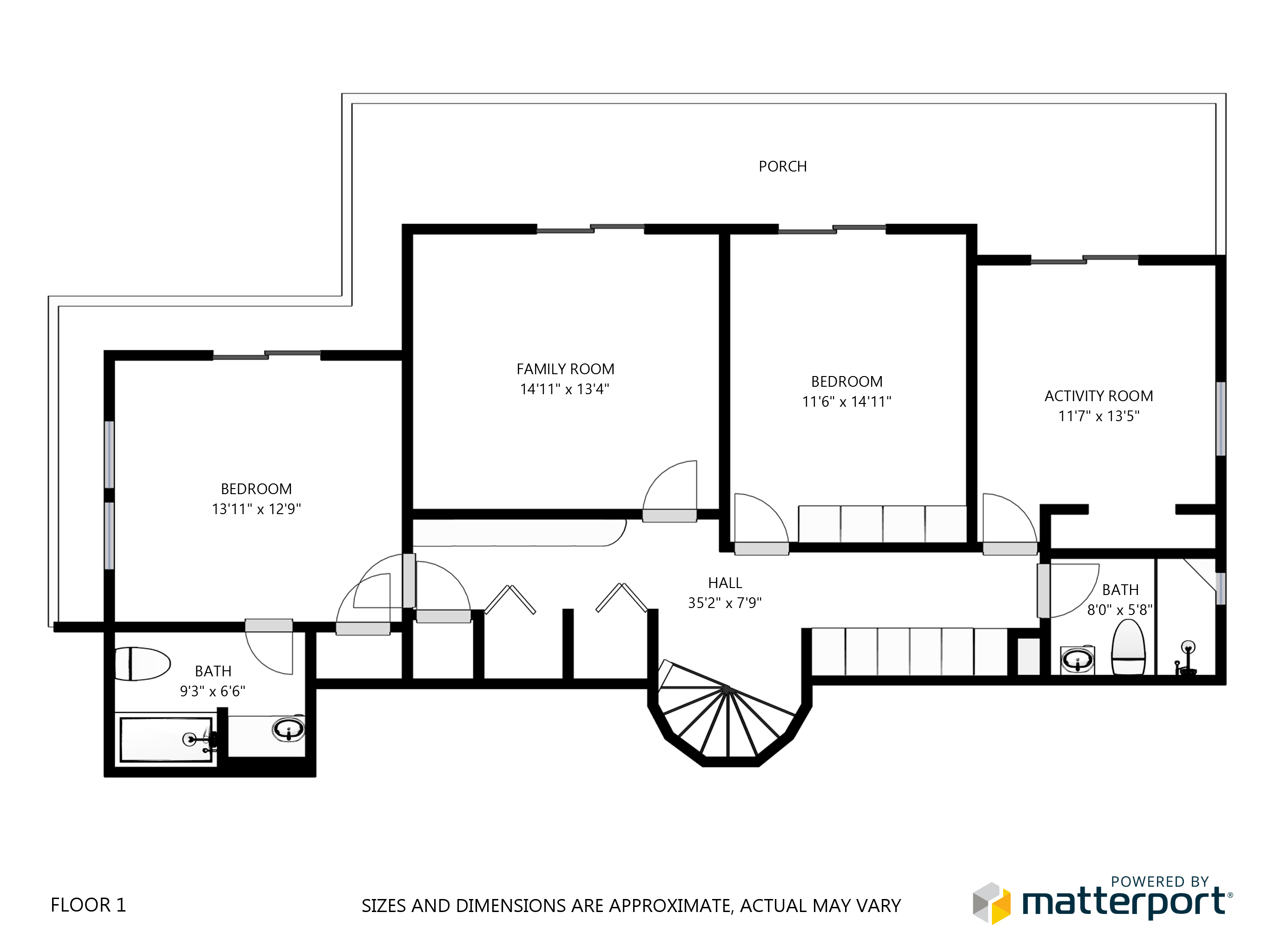Fernhill Schematic Floor Plan - Floor 1