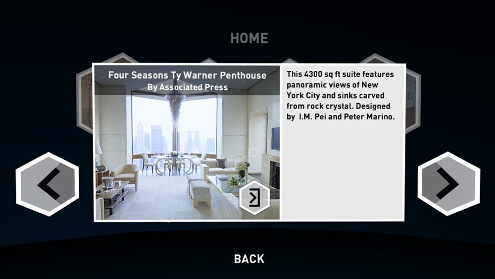 Matterport VR Showcase Space Detail Page
