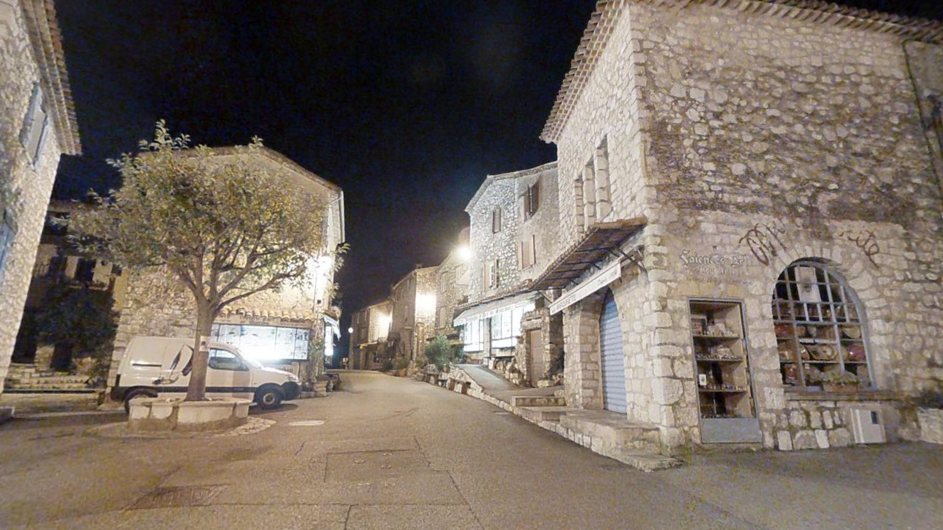 Gourdon Village by Night