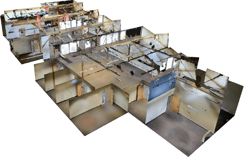 Scanning 3D sites with an actual Matterport model