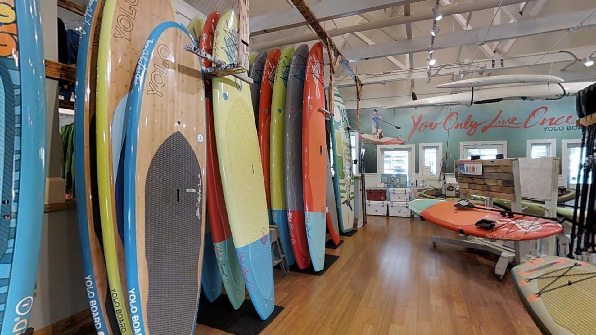 YOLO Board + Beach Store