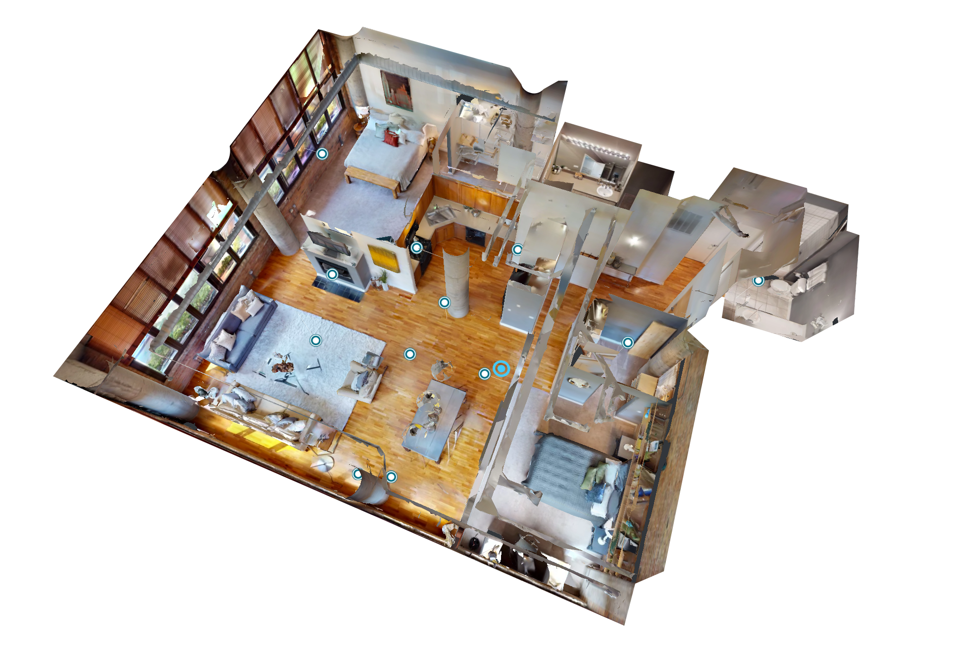 Dollhouse example with Matterport's 3D camera for real estate photography